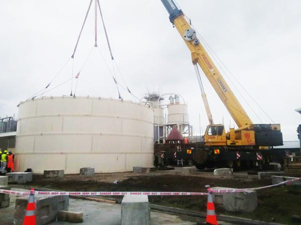 bolted type silo installation