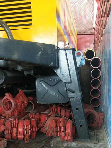 delivery of ABT40C concrete pump
