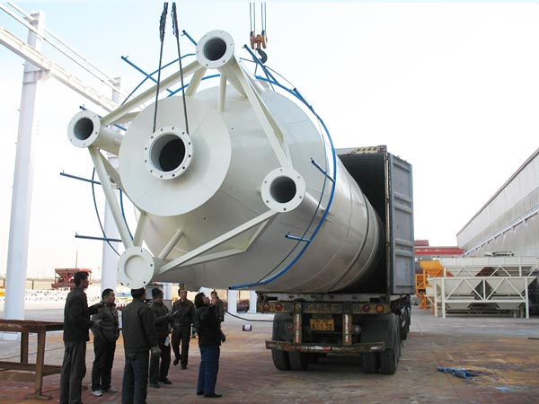 delivery of welded type silo