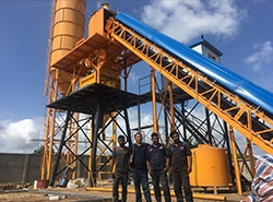 Successful installation of AJ-60 concrete batching plant