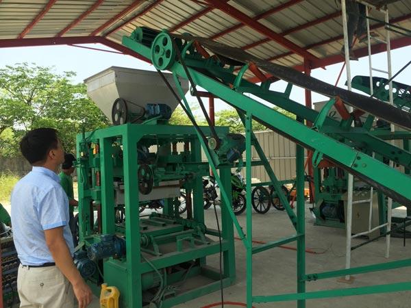 installation of solid brick machine Bangladesh