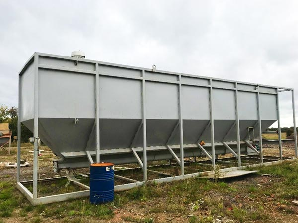 100t horizontal cement silo