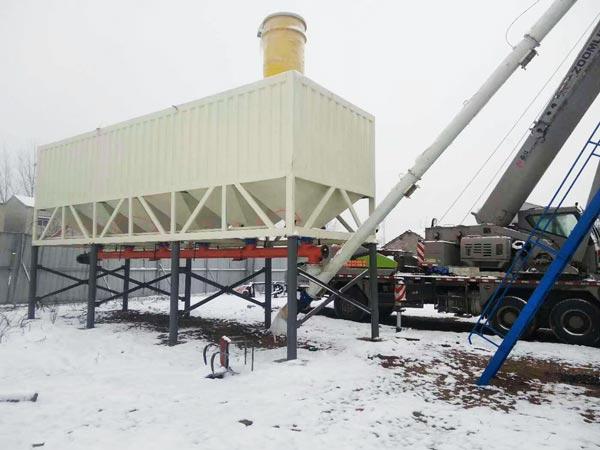 200t horizontal silo in concrete plant