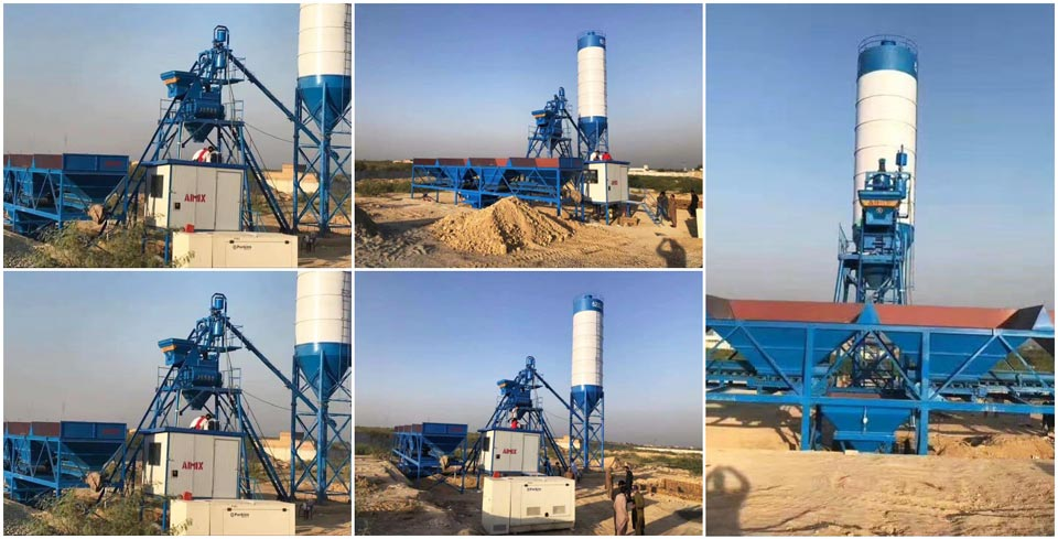 HZS25 auto batching plant installed in Pakistan