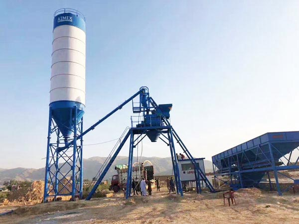 HZS25 mini concrete batch plant for sale