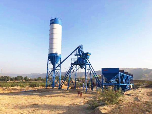 HZS25 mini concrete batch plant