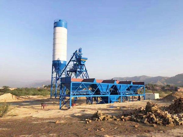 AJ-25 mini concrete batching plant