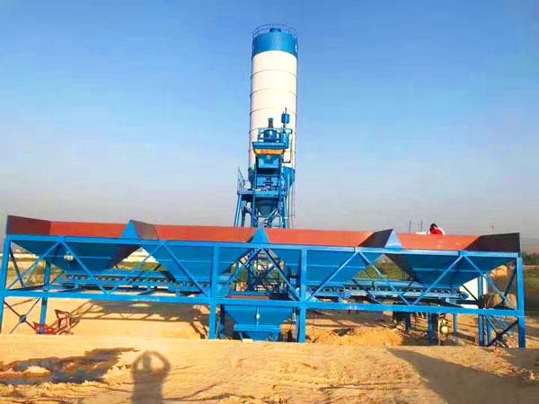 HZS25 ready mixed concrete batching plant