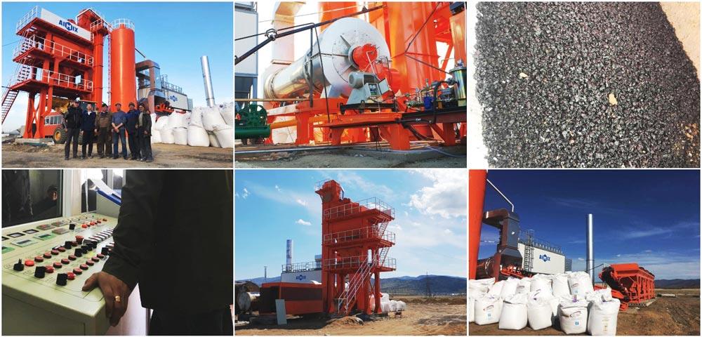 ALQ80 asphalt plant in Russia