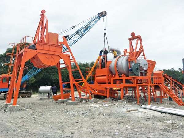 ALYJ-60 mobile mini asphalt mix plant
