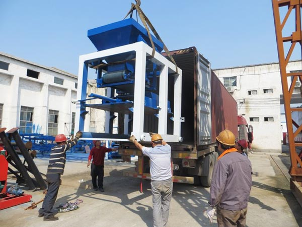 delivery of ABM-10S interlocking bricks machine