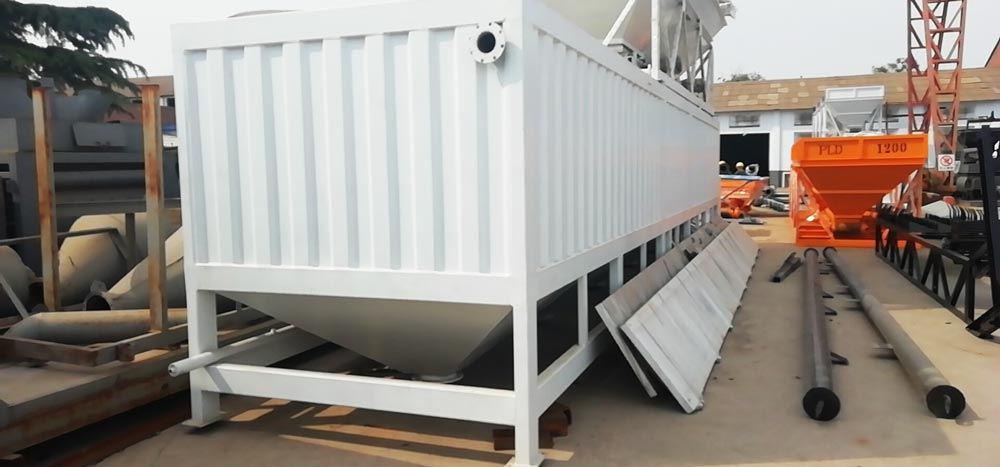 horizontal cement silo in factory