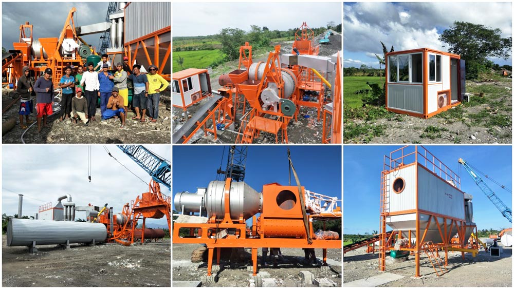 installation of QLBY-60 mobile-asphalt mixing plant in Philippines