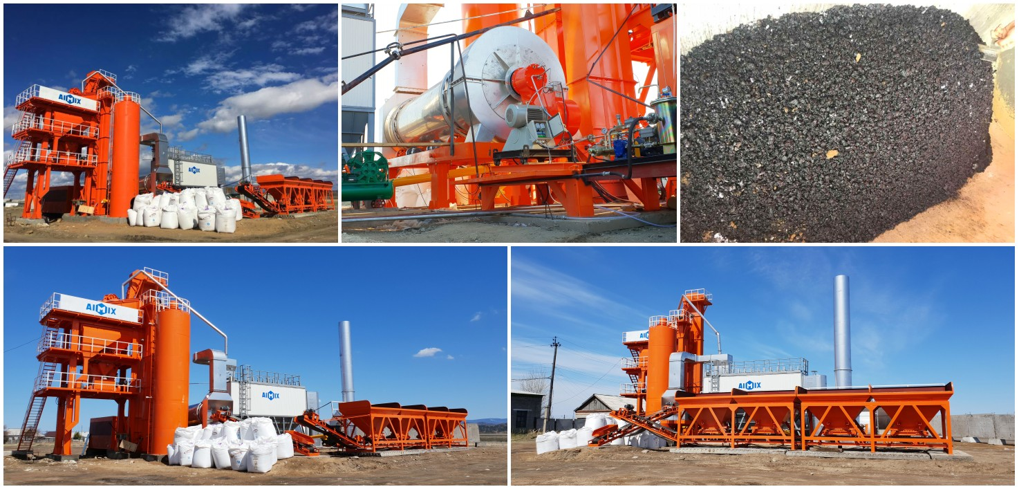 ALQ80 asphalt plant was installed in Russia