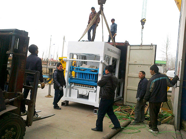 shipment of ABM-12S ash brick machine to Dominica