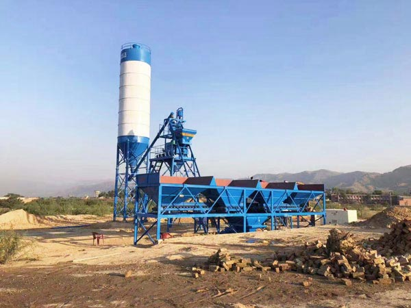 AJ-25 small concrete batch plant