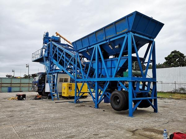 AJY-35 mobile small concrete plant
