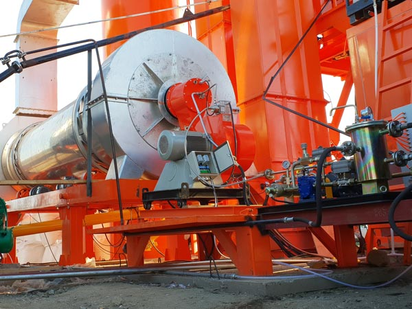 drying drum of asphalt plant