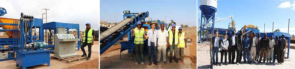 installlation of fly ash brick machine in the world