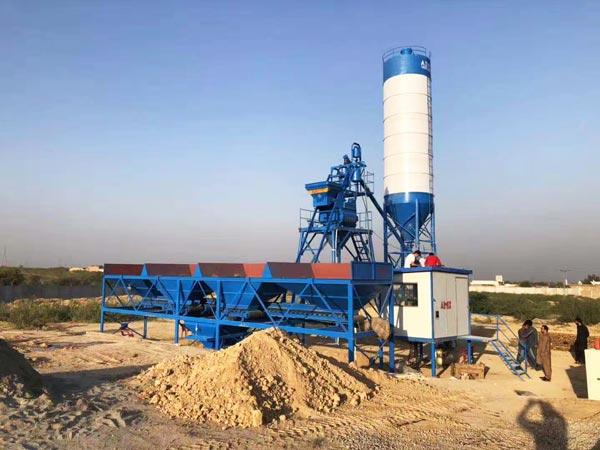 AJ-25 stationary concrete plant