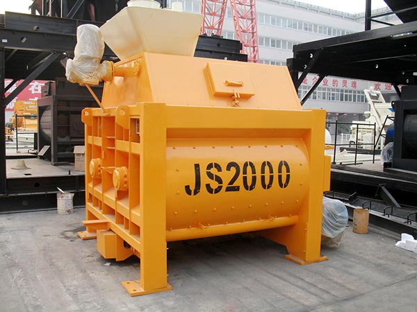 JS2000 twin shaft batch mixer