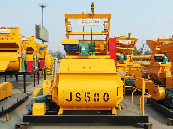 JS500 twin shaft paddle mixer