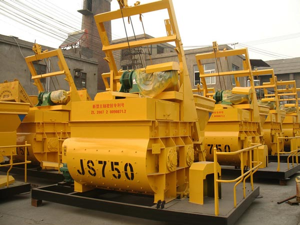 JS750 twin shaft mixer