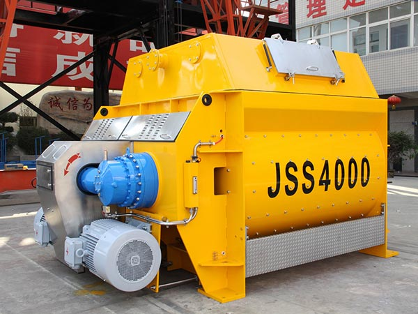 JSS series twin shaft concrete mixer