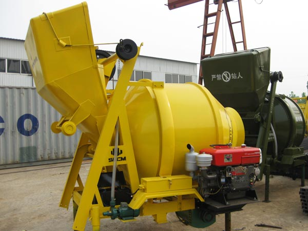 JZR500 steel rope type diesel cement mixer