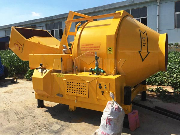 hydraulic type diesel cement mixer