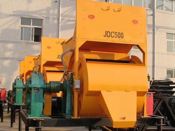 JDC500 single shaft concrete mixer