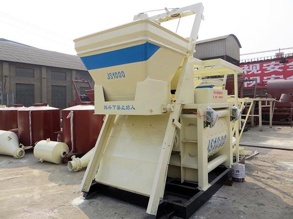 JS1000 horizontal cement mixer