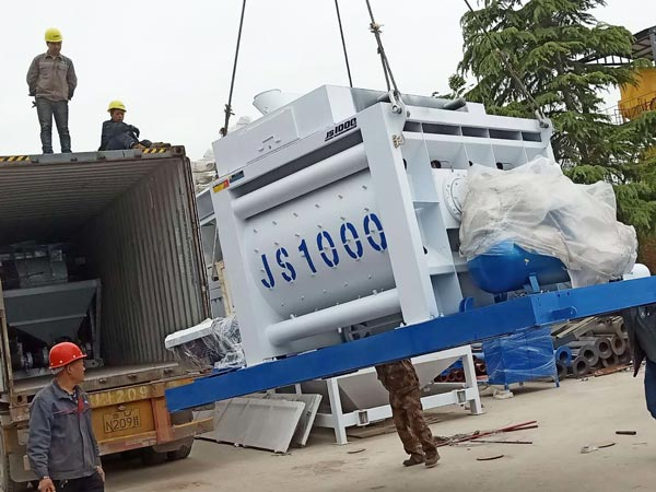 JS1000 twin shaft mixer to Bangladesh