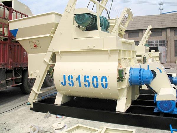 JS1500 horizontal shaft mixer