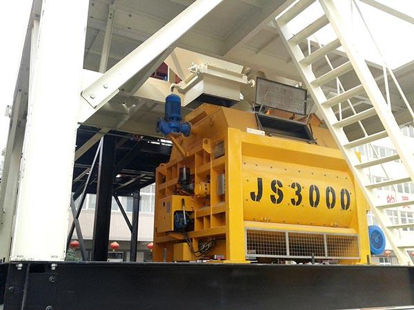 JS3000 horizontal shaft mixer
