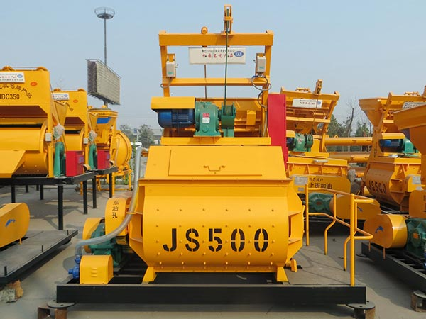 JS500 stationary twin shaft mixer