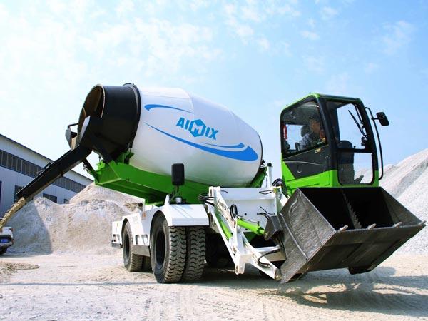 6.5cub mobile concrete mixer