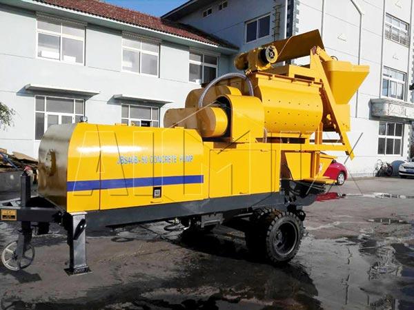 ABJS40C-JS500 compulsory-diesel concrete mixer pump