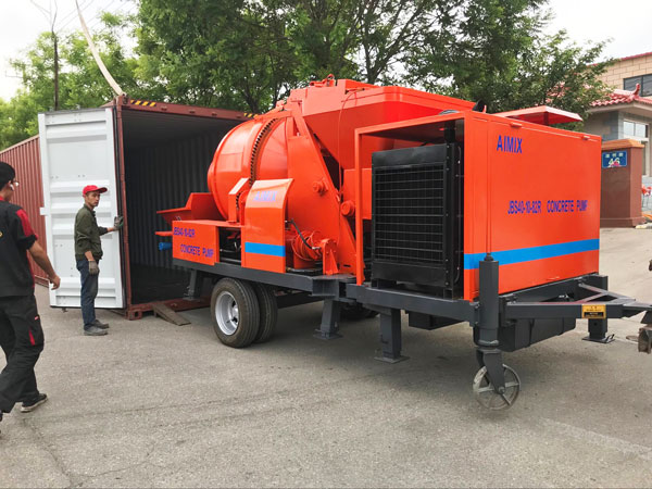 ABJZ40C concrete mixer pump with diesel engine Jordan