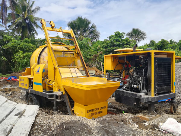 ABJZ40C diesel concrete mixer pumps
