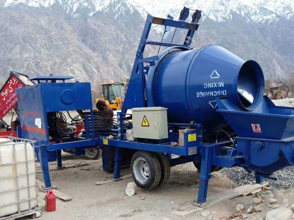 ABJZ40C diesel concrete pump and mixer