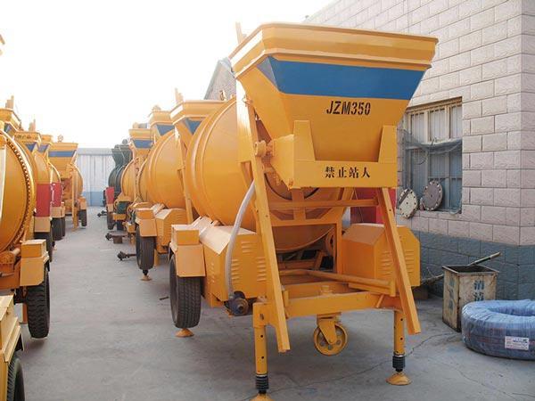 JZM350 concrete mixer mobile