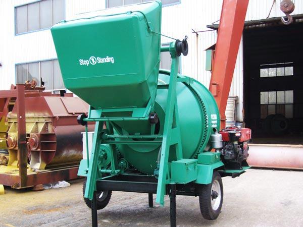 JZR350 diesel mobile concrete mixer