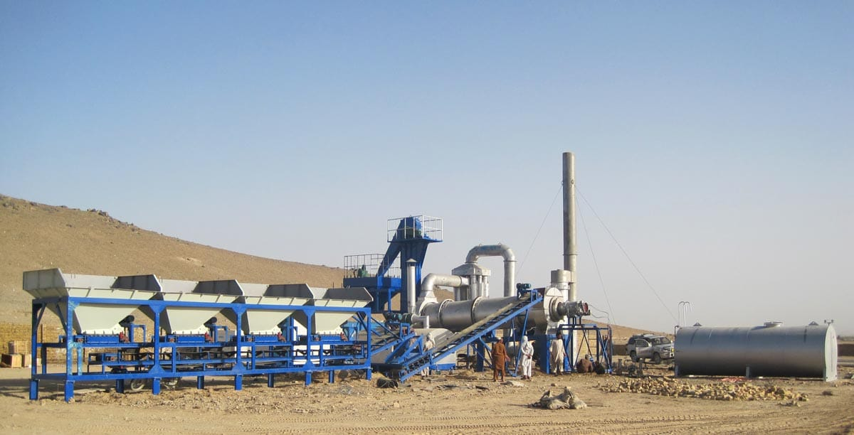 ALT60 drum mix plant in Afghanistan