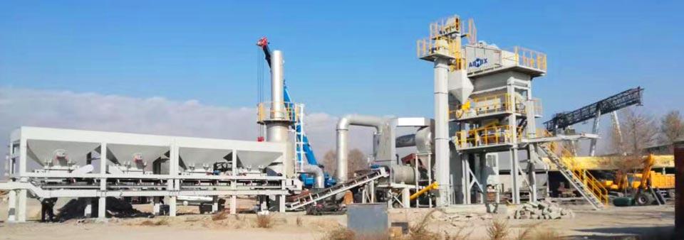 AYLQ100 mobile asphalt plant in Kazakhstan