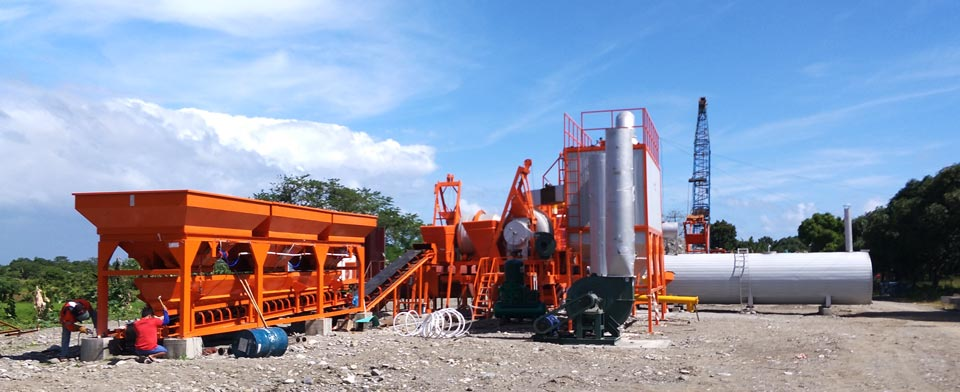 mobile double drum mix plant