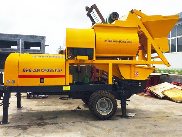 ABJS40D-JS500 electric compulsory concrete mixer pump