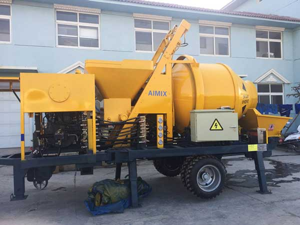 ABJZ30C diesel drum mixer pump