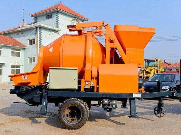 ABJZ30D electric concrete mixer and pump