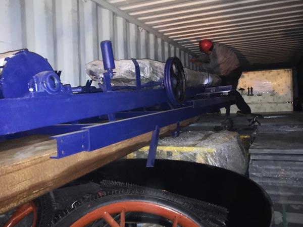 belt conveyor of concrete block machine